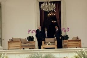 President Joko Widodo ontving het bezoek van Palestijnse Minister van Buitendlandse Zaken