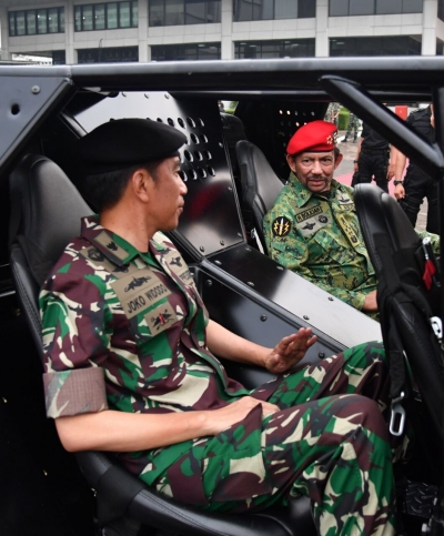 Military Uniform: President Joko Widodo and Sultan Hassanal Bolkiah