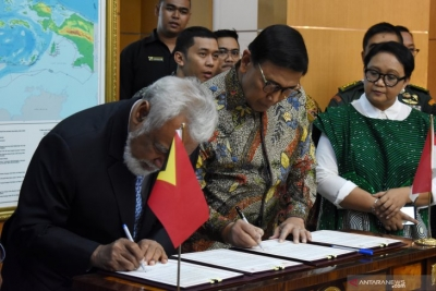 Wiranto-Xanana Sign Agreement to Complete Land Border Issues