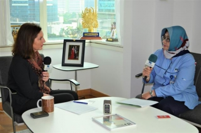 Ambassador of Sweden to Indonesia HE. Mrs. Johanna Brismar Scoog interviewed by RRI World Service Voice of Indonesia