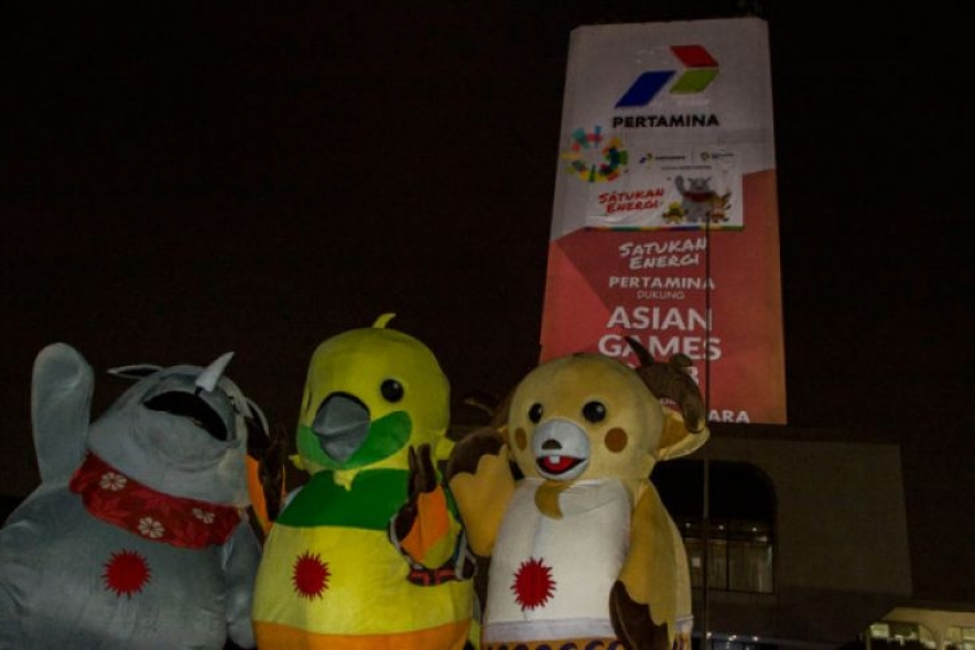 Mascots of the 18th Asian Games which will be held in Jakarta and Palembang, from Aug 18 to Sept 2, 2018.