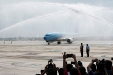 Indonesia One Lands at Kertajati International Airport
