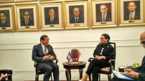 Cambodian Minister of Foreign Affairs and International COoperation with Indonesian Minister of Foreign Affairs