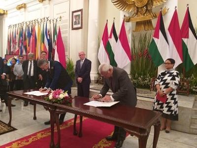 Indonesia y Palestina celebran consultas bilaterales por primera vez